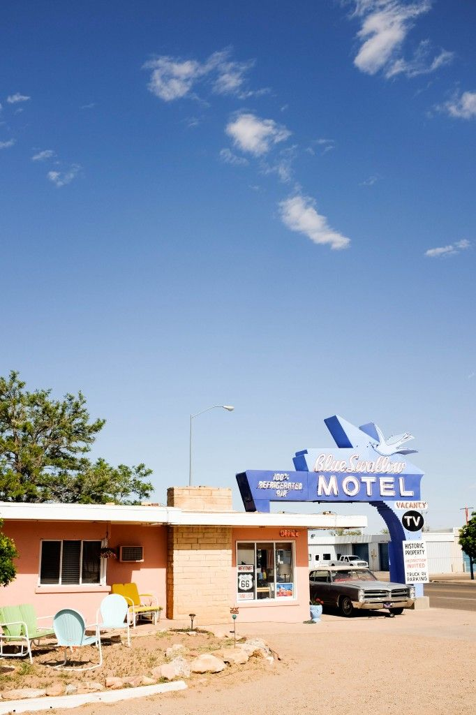 Stay in the Blue Swallow Motel in Tucumcari, NM along Route 66 for an epic road trip! // Salty Canary