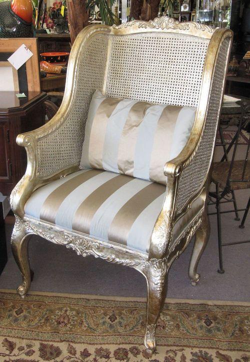 Henredon Schoonbeck Double Cane Wing Chair Sofas That