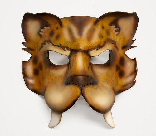 My most cherished mask to date, Smilodon (Saber Tooth Cat).   By Lesia Yancey aka SurlyBunny
