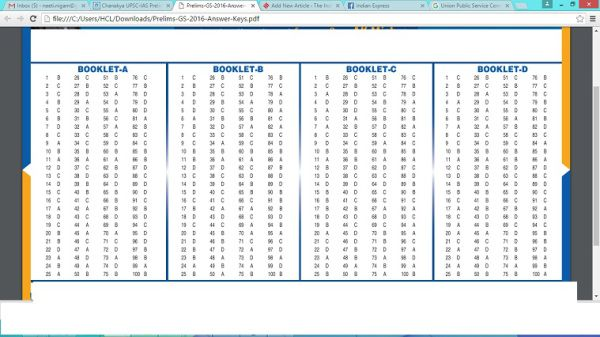 Upsc, upsc answer key, upsc answer key 2016, upsc answer sheet, upsc results, upsc cse exam, ias exam analysis, prelim exam…
