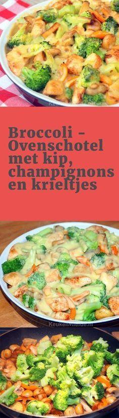 Broccolischotel met kip etc