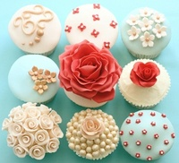 frosting: Flowers Cupcakes, Pretty Cupcakes, Cute Cupcakes, Idea, Color, Wedding Cupcakes, Bridal Shower, Cups Cakes, Cupcakes Rosa-Choqu