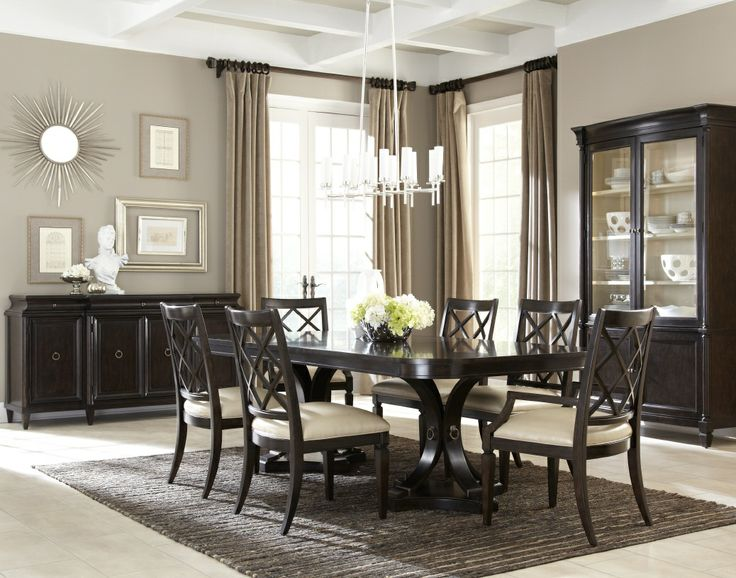 ART Classic 7pc Double Pedestal Dining Set In Brindle