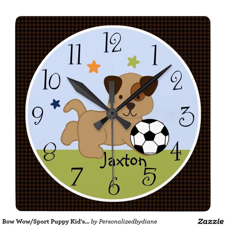 Bow Wow/Sport Puppy Kid's Baby Nursery Clock