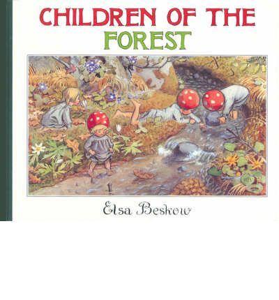 Children of the Forest - Elsa Beskow; Varsta 3+;  Aceasta coperta este cea a mini editiei. Cartea este ilustrata superb. Copiii din padure traiesc in radacinile unui pin batran,  Ei culeg ciuperci salbatice, afine si stau la adapost sub frunze mari de brustur atunci cand ploua. Se joaca cu veverițele si cu broastele , iar cand vine toamna, ei colecteaza si pregatesc ancare pentru iarna lunga ce va veni pana cand briza calda de primavara va incepe sa aduca noi miresme.