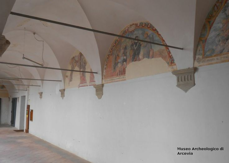 The frescos in the cloister - Arcevia - Marche - Italy
