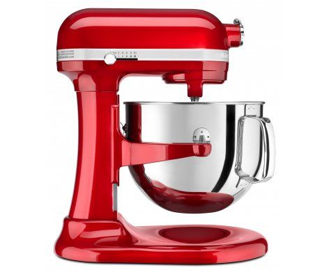 The Pro Line Series 6.9L Bowl-Lift Stand Mixer in Candy Apple Red.   It boasts the most powerful KitchenAid motor EVER along with the largest capacity for 6.9 litres of magnificent mixing muscle.