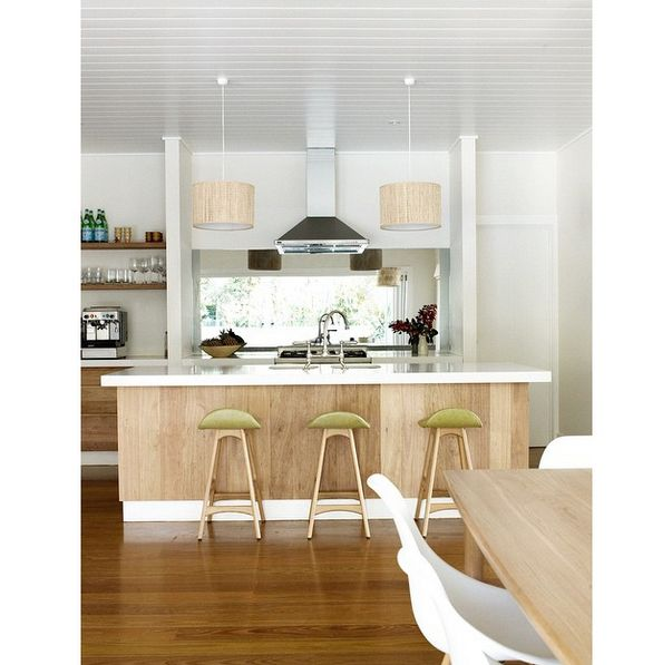 Beautiful kitchen at the Atlantic Byron Bay. #kitchenstools #blondewood