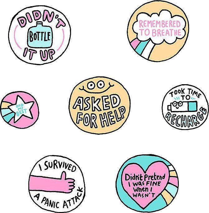 Vinyl Self Care Stickers SET Affirmation Positive Words Sticker Sheets