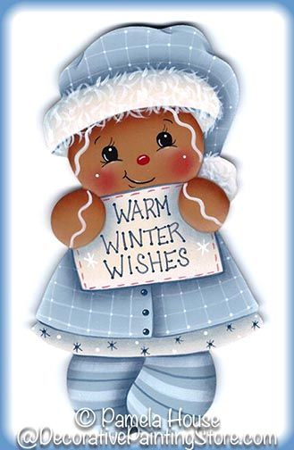 The Decorative Painting Store: Warm Winter Wishes Ginger Pattern, All Pattern Packets