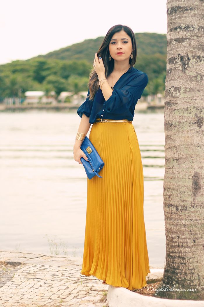 25  best ideas about Pleated chiffon maxi skirt on Pinterest ...