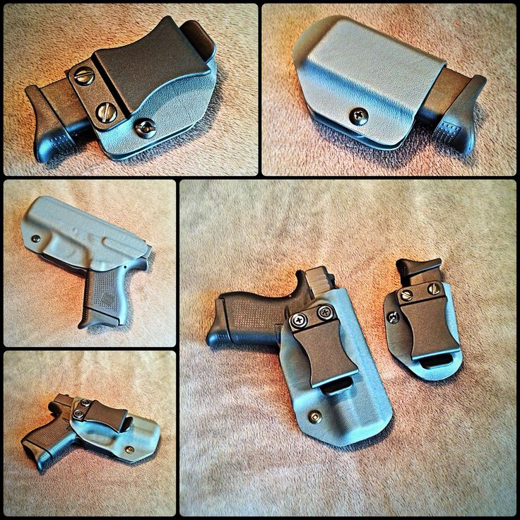 My holster collection is growing. The Adjustable IWB Holster w/ matching mag caddy from Gun Goddess' men's collection, for the Glock 42 in gun metal grey.