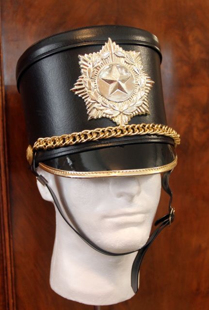 Black and gold band hat with a star $14.00