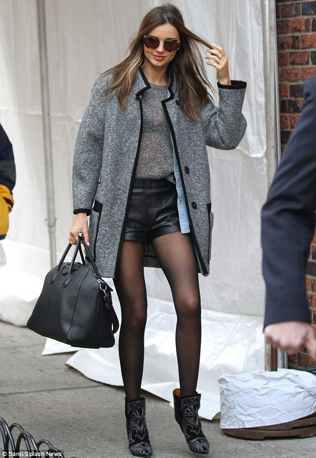 Miranda Kerr arrives at the Victoria's Secret catwalk show rehearsals in New York City