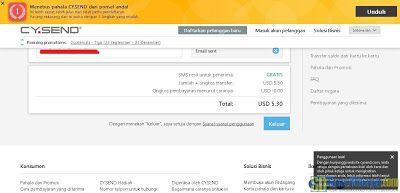 Konfirmasi pengisian pulsa dengan voucher CY.Send   SurveiDibayar.com