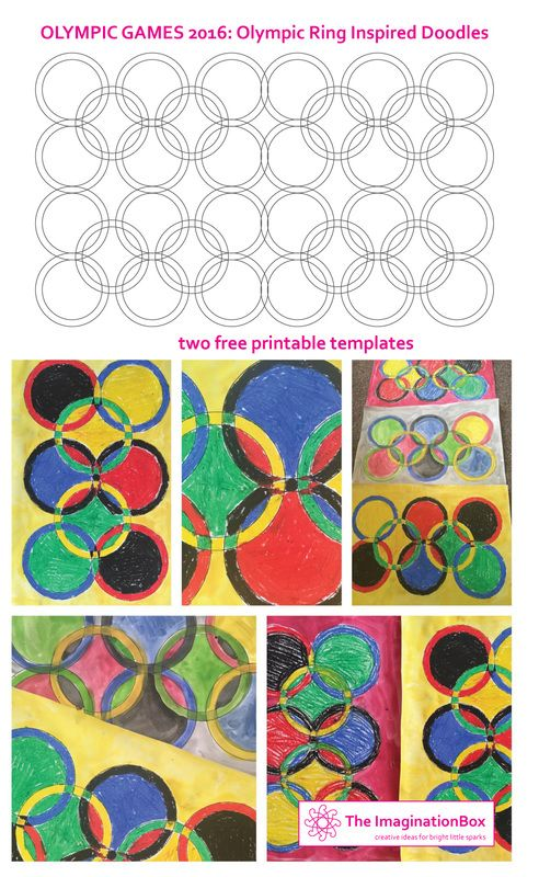 The ImaginationBox: Olympic Ring inspired doodles, free templates to download. Explore shape, colour and abstract pattern