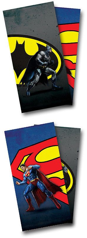 Cornhole Bag Toss 79791: Superman Batman Superhero Cornhole Wrap Set Vinyl Board Decal W/ Squeegee BUY IT NOW ONLY: $49.9