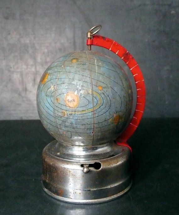 2 sujetalibros del mapa del globo del mundo antiguo de la vendimia