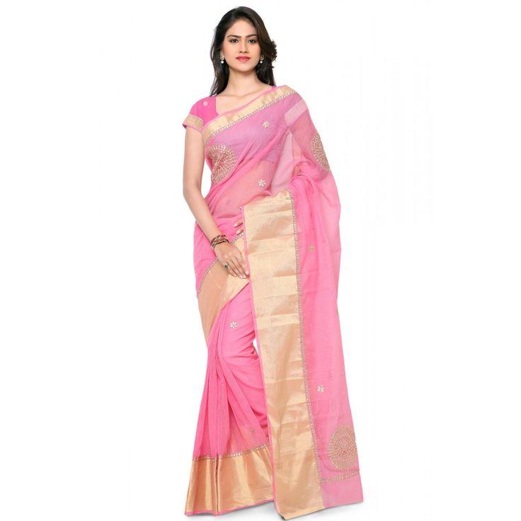 Buy Women's Ethnic Wear Traditional Kota Saree With Gotta Patti Work  #saree, #festivalsaree, #bucksbenefit #onlinesaree, #desigersaree, #partywearsaree, #colorfulsaree, #handworksaree