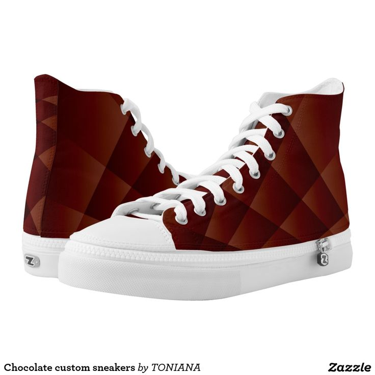 Chocolate custom sneakers printed shoes