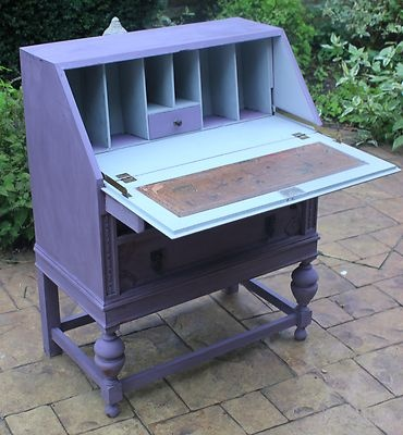 shabby chic furniture 1920s writing bureau lap top work station Annie Sloan | eBay