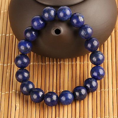 Hot Unisex 10mm Round Natural Stone Beads Bracelet Free Shipping