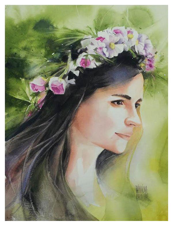 Karina Jaźwińska/ Watercolor/ Sara/ size: 45x32 cm/ QoR