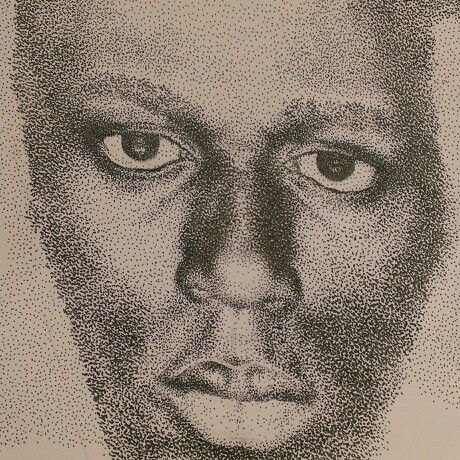 #portrait#pen drawing#pointalism#Usain Bolt#not finished#