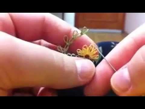 Resimli anlatımlı iğne oyası yapılışı - YouTube