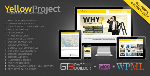 YellowProject Multipurpose Retina WP Theme #wordpress #eccommerce #woocommerce