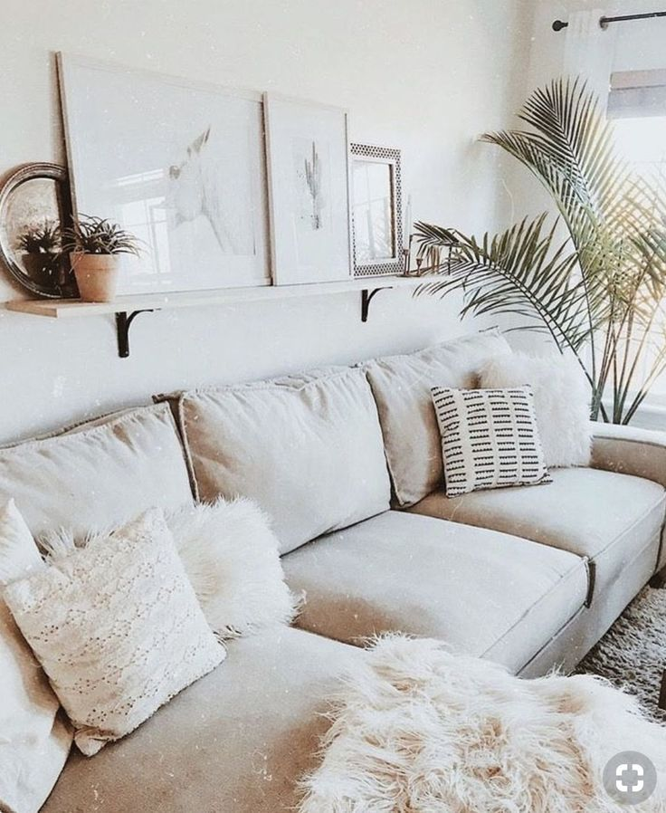 Neutral Boho Living Room Home Style Romantic Living Room White Living Room Colors Minimalist Living Room Design #neutral #bohemian #living #room