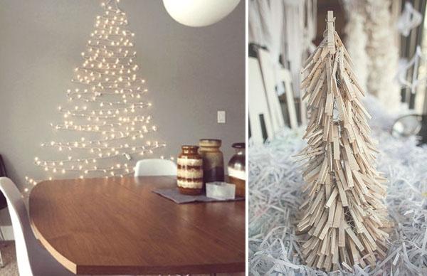 Decoración navideña: árboles de Navidad poco convencionales (II).