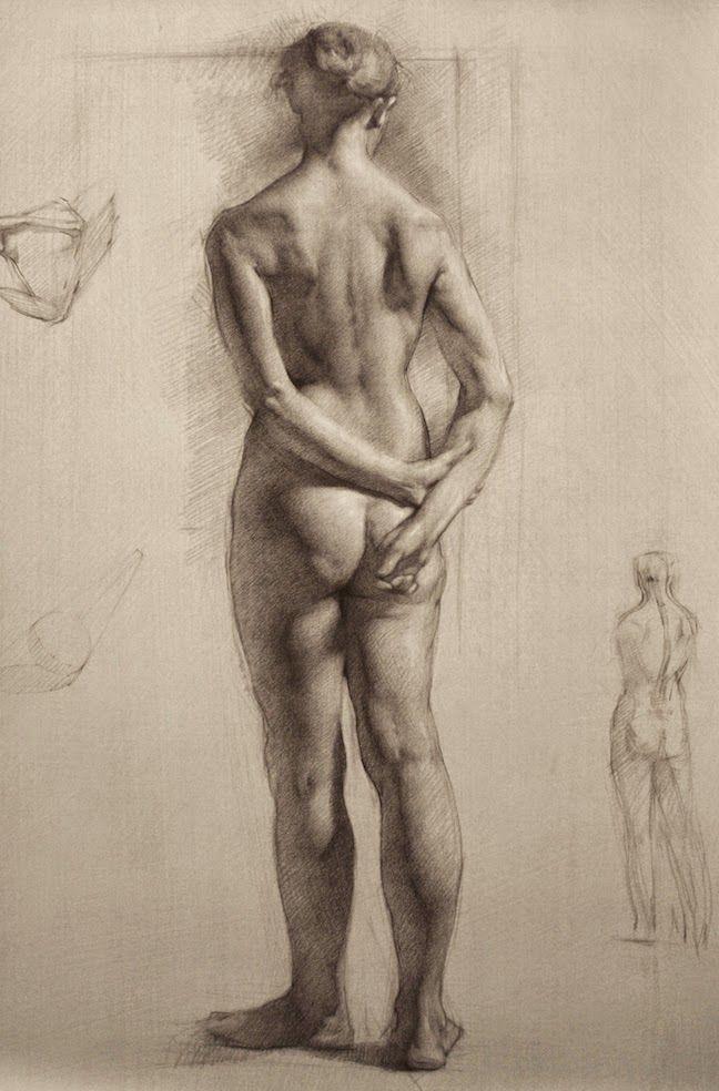 Nude inspiration drawing by diana rutetska
