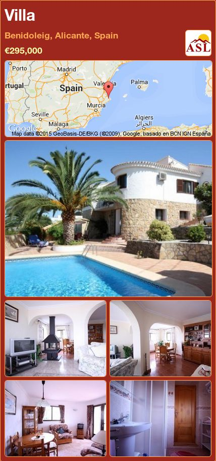 Villa in Benidoleig, Alicante, Spain ►€295,000 #PropertyForSaleInSpain