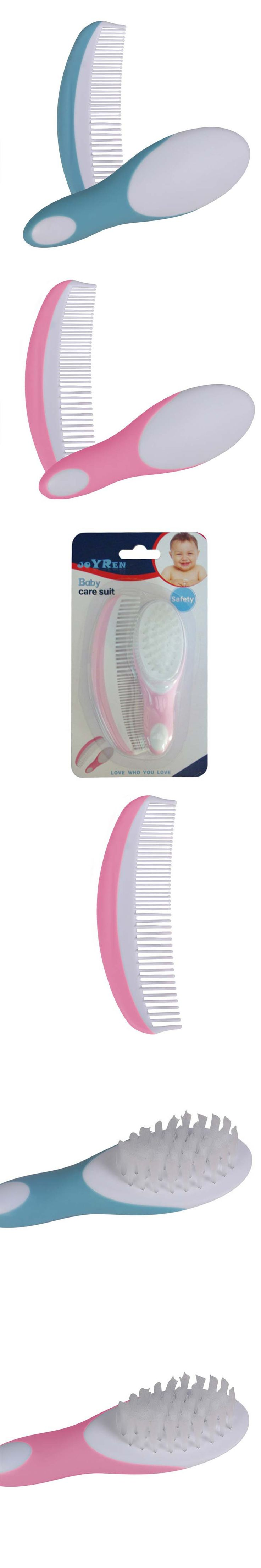 0-3 Years baby care sets Moon shape comb + Soft brush Easy to comb Environmentally friendly materials Safe design Baby essential