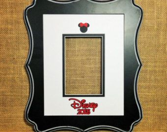 "Disney Autograph Book Alternative Photo Mat / Matte is 8""x10"" and fits a 4""x6"" photo Signature mat Memory Keepsake"