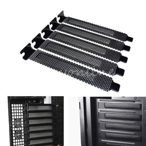 Universal PCI Slot Cover Dust Filter Blanking Plate Hard Steel Protective Back Pack Damper Cleaner Cleaning for Computer Desktop