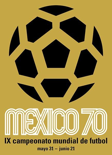 1970 FIFA World Cup - Mexico - Promotional Advertising Poster