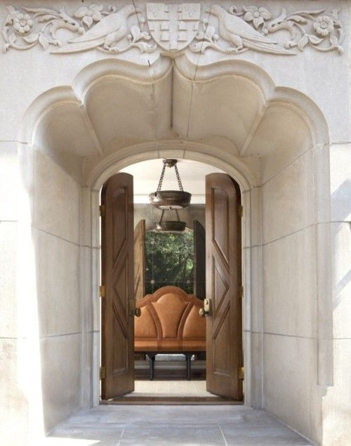 .Tons of carved marble and double wood doors create an extremely impressive entryway: Beyerl Architects, Grand Entrance, Doors Create, Architecture, Photo, Entryway, Wood Doors