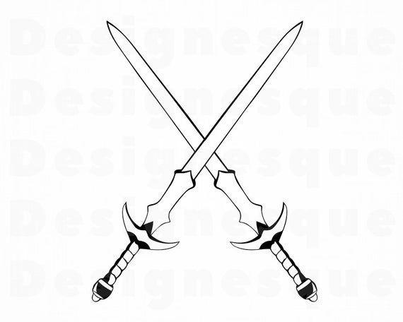 Crossed Swords Isolated On White Background Vector Image Affiliate Isolated Swords Crossed White Ad Seni Bela Diri Desain Produk Sejarah Seni