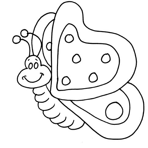 Butterflies Fly Funny Coloring Pages For Kids Printable