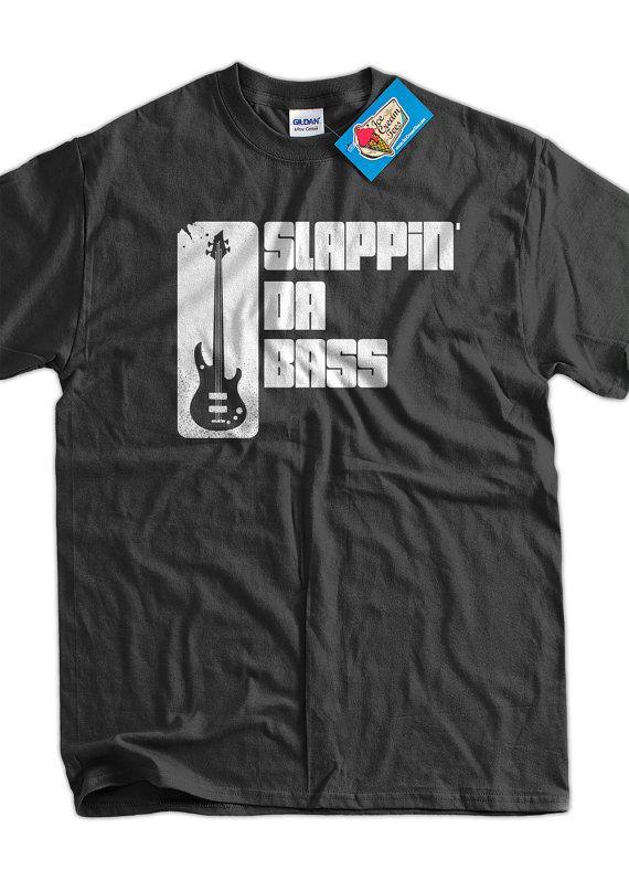 Bass Guitar Funny Music T-Shirt Slappin Da Bass T-Shirt Gifts for Dad Screen Printed T-Shirt Tee Shirt T Shirt Mens Ladies Womens Youth Kids...