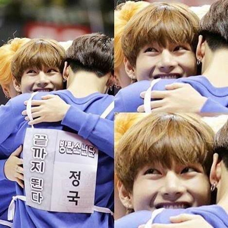 Hugging someone you like