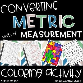 This activity is included in my 5th Grade Math Standards Coloring Activities BUNDLE!! This activity allows students to practice converting METRIC units of measurement while coloring!