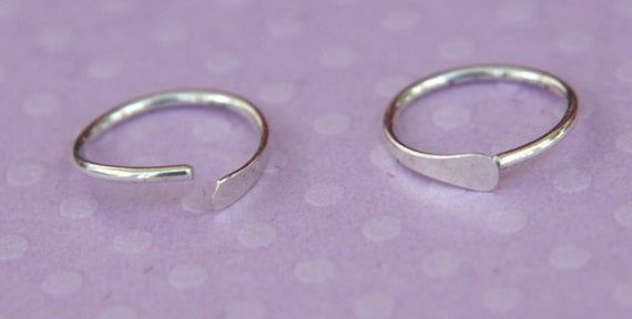 nose ring, eyebrow ring, sterling silver cartilage earring, body piercing, silver nose ring, silver
