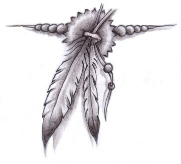 native american tattoos for women | Feather Tattoo Ideas and Meaning .    I love this