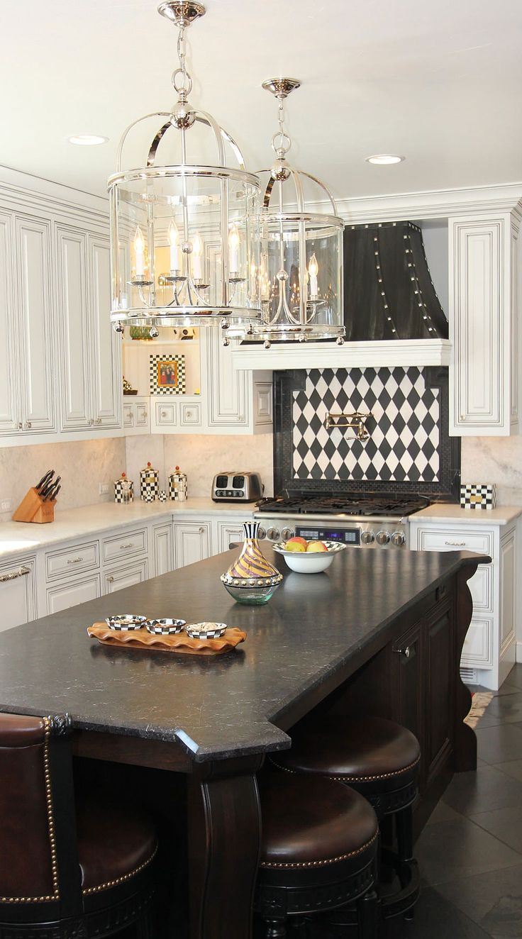 50+ Black Countertop Backsplash Ideas (Tile Designs, Tips ... on Backsplash Ideas For Black Countertops  id=61085