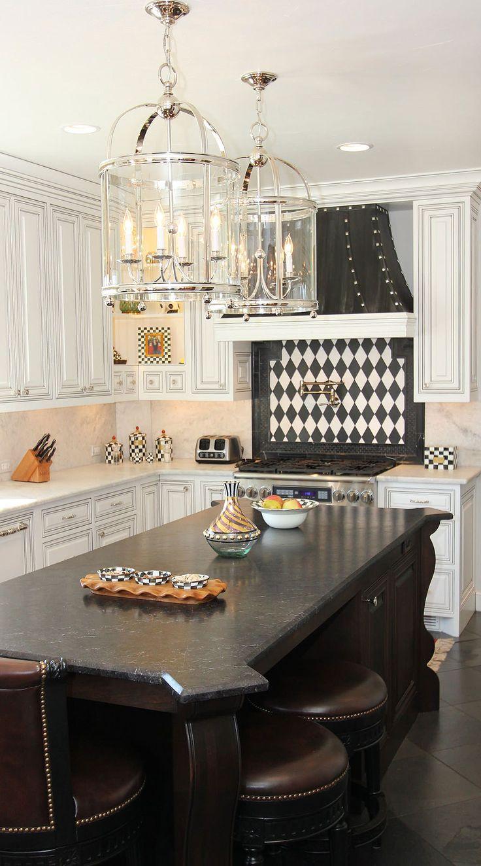 50+ Black Countertop Backsplash Ideas (Tile Designs, Tips ... on Backsplash Ideas For Black Countertops  id=61085
