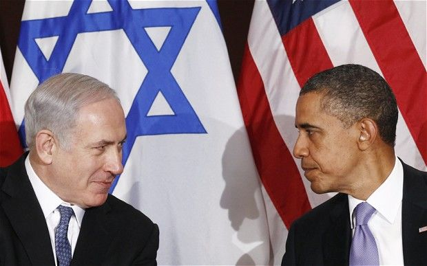 """1/17/2013 Report: Barack Obama says """"Benjamin Netanyahu doesn't know what is good for Israel"""" Obama sees Netanayhu as a """"political coward"""" whose policies pose a greater threat to Israel's existence than Iran's nuclear program because he don't know what is in the country's best interests,it has been claimed. The damming assessment of the P.M., relayed by Senior W.H.officials, to Jeffery Goldberg. Obama told aids"""" it was the kind of self-defeating behavior he had come to expect from the P.M."""""""