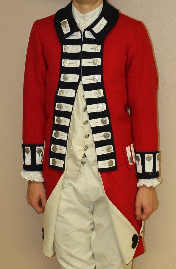 British Redcoat Uniform Jacket 1770s. $350.00, via Etsy. I think I can make this.